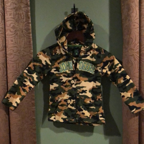 73c2f4dbf2e6e John Deere Jackets & Coats | Boys Zip Up Fleece Jacket Coat Hoodie ...